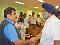 Sukhbir Singh Badal meeting with Union Minister Nitin Gadkari