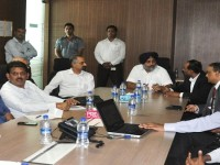 Sukhbir visits GMR's MRO facility and the Genome Valley in Hyderabad