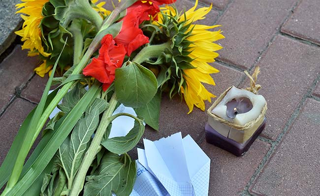 About 200 Ukrainians Gather at MH17 Crash Site on Anniversary