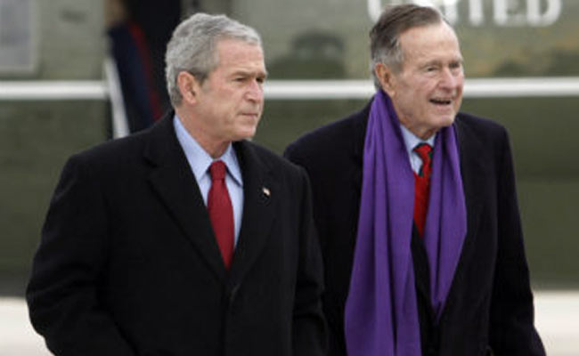Former US President George H W Bush Fractures Neck in Fall at Home