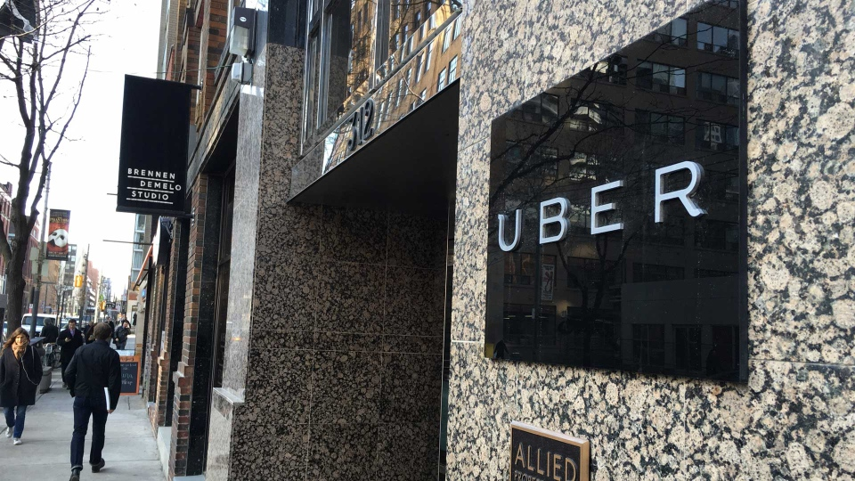 Uber is seen as an existential threat to taxi industry toronto-beck-uber-protest