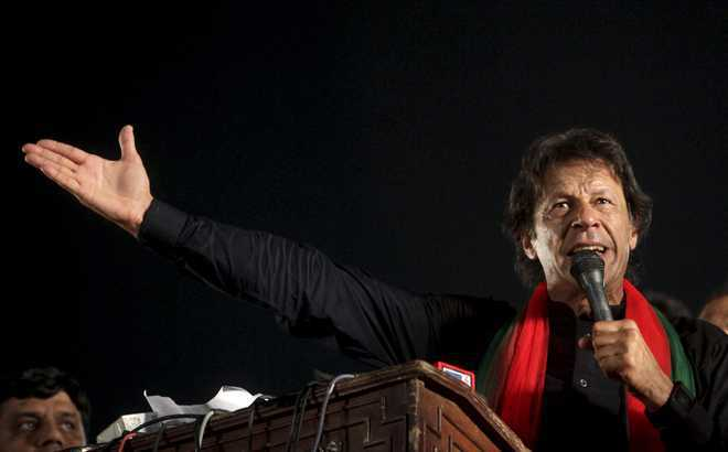 Sharif responsible if 'third-force' steps in Pak: Imran