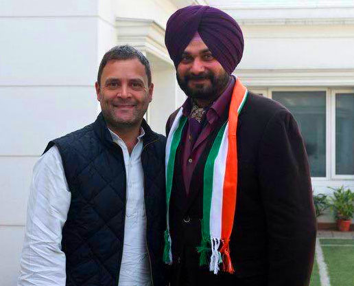 Sidhu joins Congress, formally inducted by Rahul Gandhi in New Delhi