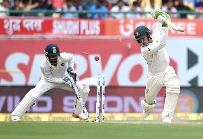 Aus bowled out for 300; debutant Kuldeep Yadav takes 4 wickets