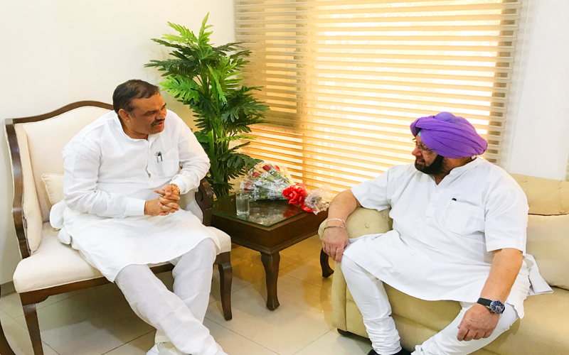 BJP EXTENDS SUPPORT TO CAPT AMARINDER GOVT ON SYL, OTHER PUBLIC WELFARE ISSUES IN PUNJAB