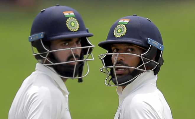 Middle order falters after Dhawan ton, India reach 329/6 against Lanka