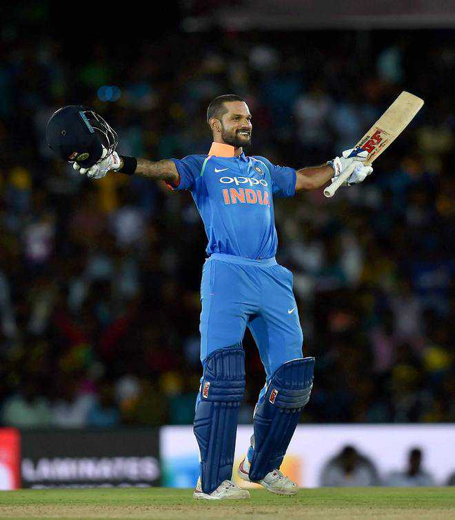 Dashing Dhawan destroys Lanka