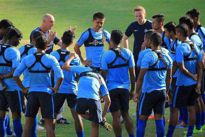 Indian football team gains two places in FIFA rankings