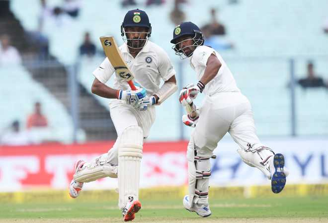 Pujara fights on as India wobble to 74/5 on rain-hit 2nd day