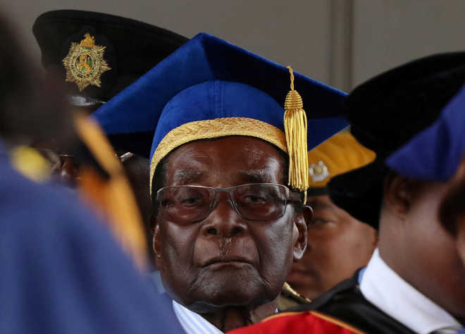 Zimbabwe's Mugabe makes first public appearance since military takeover