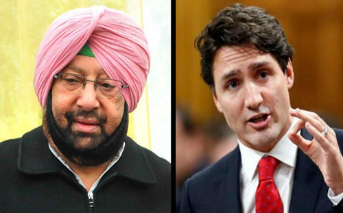 CAPT AMARINDER DIRECTS SIDHU TO JOIN PURI IN RECEIVING TRUDEAU AHEAD OF HIS SCHEDULED MEETING WITH CANADIAN PM