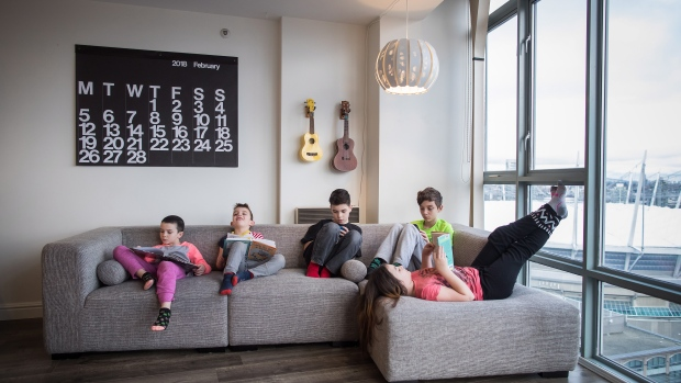 Canadian families finding small living creates closeness, creative kids