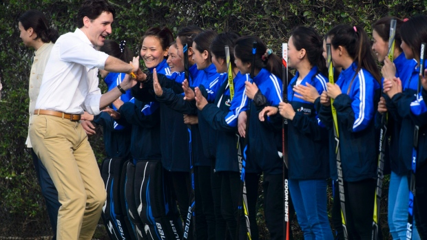 Trudeau caps off difficult state visit to India with ball hockey game